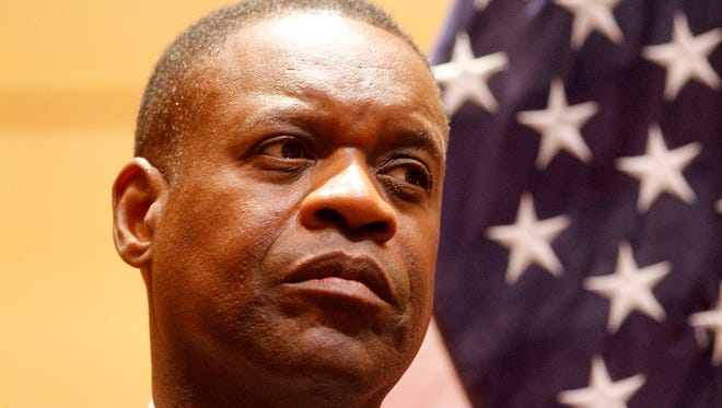 Detroit Emergency Manager Kevyn Orr during a round table meeting hosted by the White House at the Wayne State University Law Center on Friday Sept. 27, 2013, in Detroit. A proposed bill in the Michigan Legislature attempts to stop emergency managers from being allowed to approve contracts with firms they've worked for.