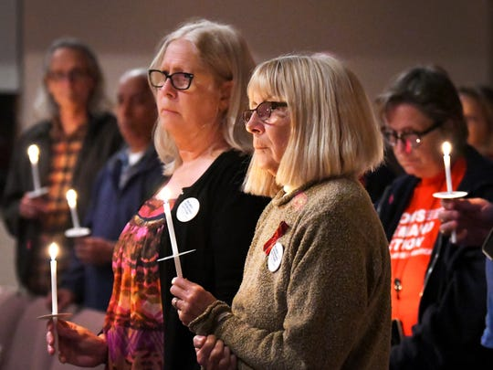 A candlelight vigil at Friendship Fellowship Unitarian Universalist church in Rockledge – organized by the Brevard chapter of Moms Demand Action For Gun Sense in America – was held on the eve of the first anniversary of the Feb. 14, 2018, mass shooting at Marjory Stoneman Douglas High School.