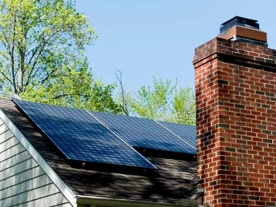 A home with solar panels installed by Scott Noethen,
