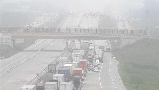 Over 4 miles of traffic had built up in the southbound direction on I-94.