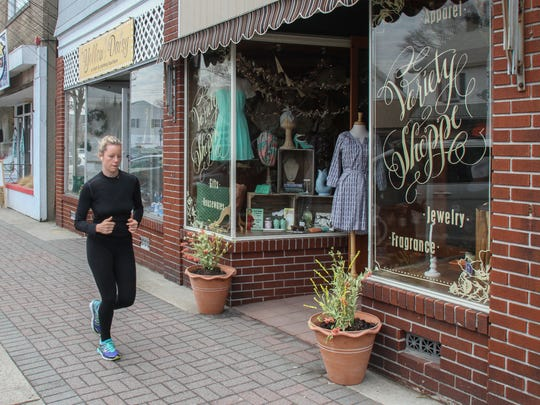 Manasquan's quaint downtown offers the perfect scenery for an afternoon run.
