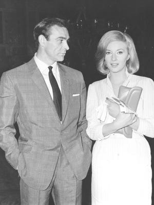 """Sean Connery and Italian actress Daniela Bianchia are shown in Istanbul, Turkey, for the filming of the James Bond movie """"From Russia With Love"""" on April 25, 1963."""