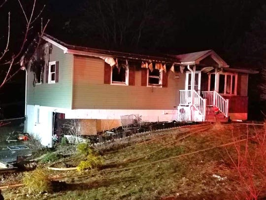 A family of six was displaced when a fire ripped through