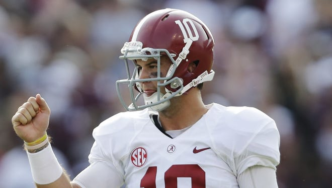 Former Alabama quarterback AJ McCarron was taken in the fifth round of the NFL draft by the Cincinnati Bengals.