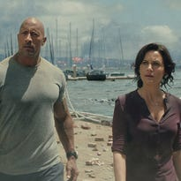 "Hollywood's favorite geologic bad guy is back in ""San Andreas,"" starring Dwayne Johnson (left) and Carla Gugino. It's a fantastical look at one of the world's real seismic threats."