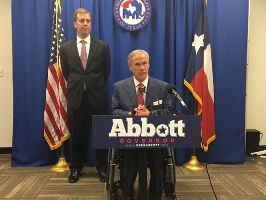 Jimmy Blacklock and Gov. Greg Abbott 2