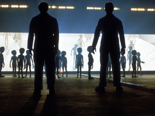 Aliens reach out and touch someone in Steven Spielberg's