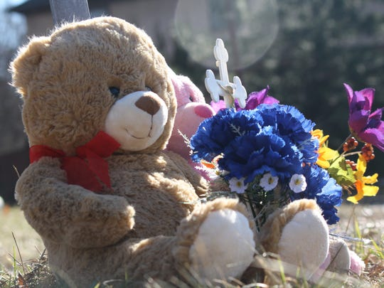 This memorial is on Reading Road, near where 17-year-old