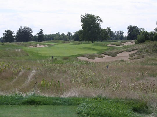 Hole 15 at Purgatory was the first hole laid out on the course, using the two large Sassafras trees down the right side as a guide.
