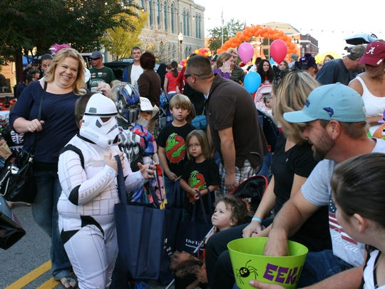 Costumed characters entertained children and parents alike at last year's Bump in the Night Bash, held on the Springfield Courthouse Square