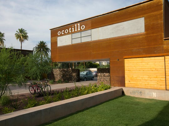 Ocotillo restaurant in Phoenix fronts a stone-walled