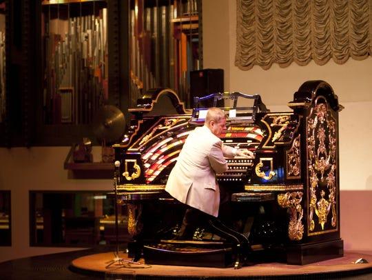 Organist Lew Williams plays  the 6,000-pipe, 1927 Wurlitzer