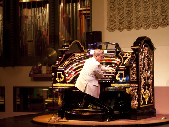 Organist Lew Williams plays  the 6,000-pipe, 1927 Wurlitzer