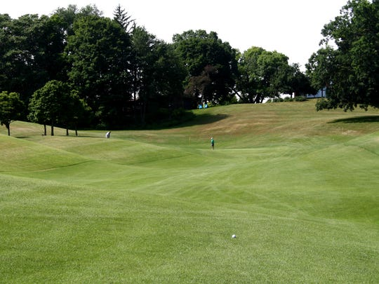Hole No. 8 at Huron Hills in Ann Arbor.