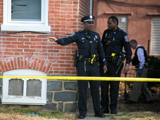 Wilmington police are on scene at a shooting Tuesday morning in the 200 block of W. 30th Street.