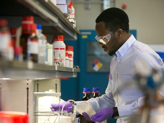 Chemical engineering graduate student Elvis Ebikade
