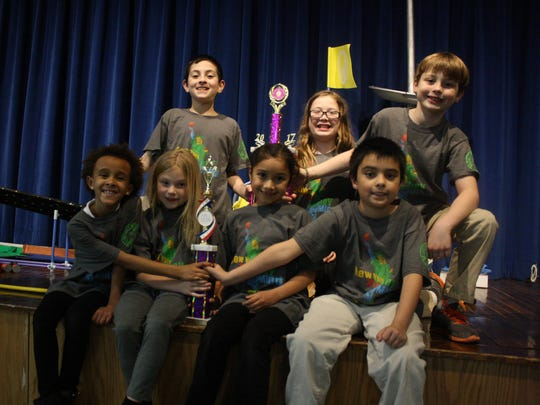 The Odyssey of the Mind team from St. John the Evangelist
