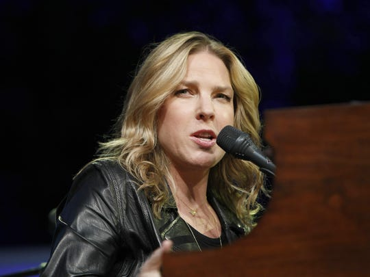 In this July 21, 2013 file photo, Canadian jazz pianist and singer Diana Krall performs at the Jazz Festival of 5 Continents in Marseille, southern France.