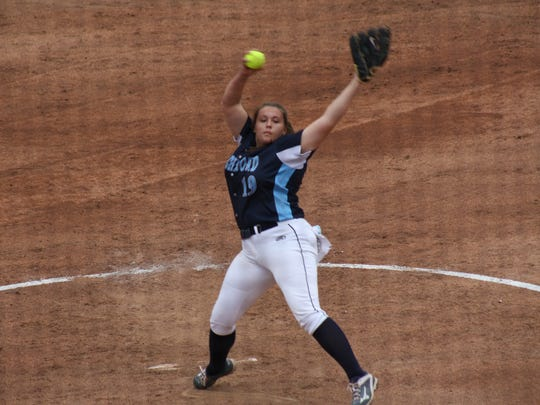 Richmond's Erin Shuboy pitches against Ida in the Division