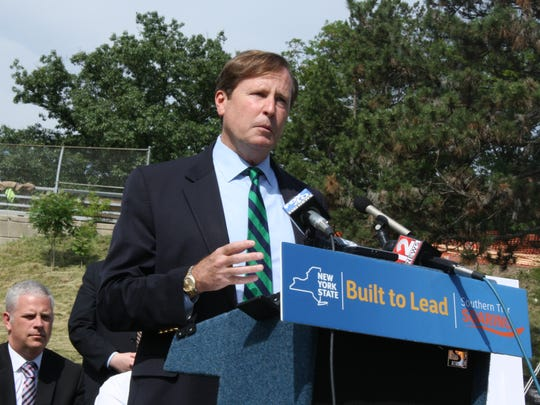 New York State Department of Transportation Commissioner Matthew Driscoll announces plans for the state Route 434 Greenway.