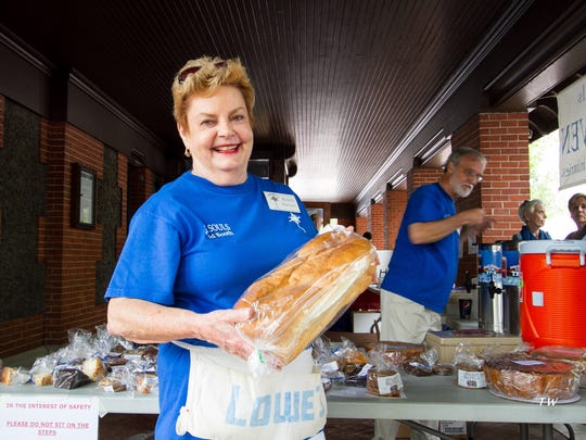 Nancy Marlowe, seen here in 2014, was a longtime volunteer organizing the Taste of Heaven food booth at the Village Art & Craft Fair. She died in June.