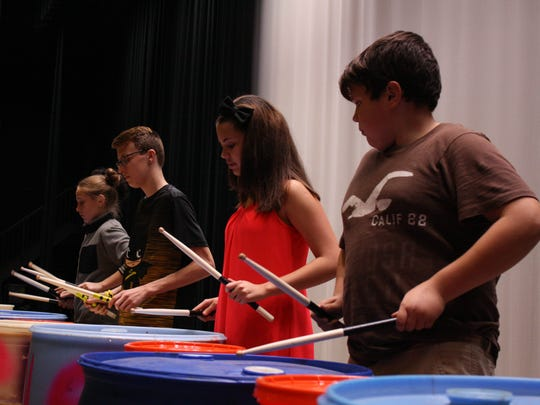 Smash rehearses at East Middle School on Oct. 10.