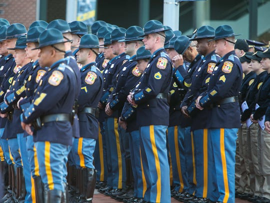 Hundreds gather for the funeral service of Sgt. Rodney