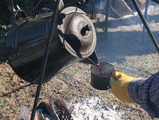 There wasn't a propane bottle in sight. Wood cooking