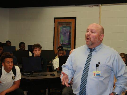 John Whitehead addresses members of the Paramus Catholic