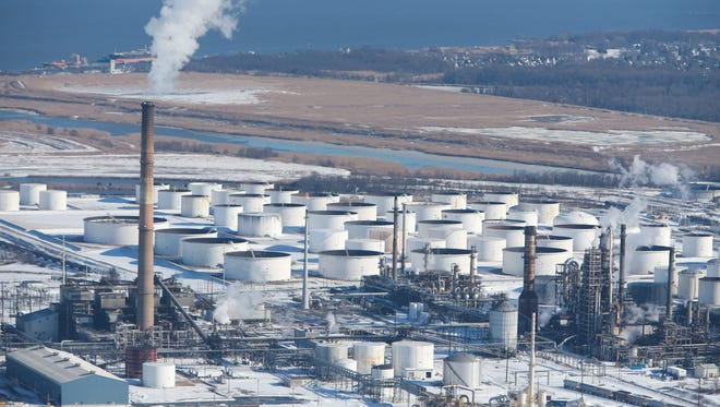 The Delaware City Refinery is shown on Jan. 24. The plant was shutdown following a blizzard this month.