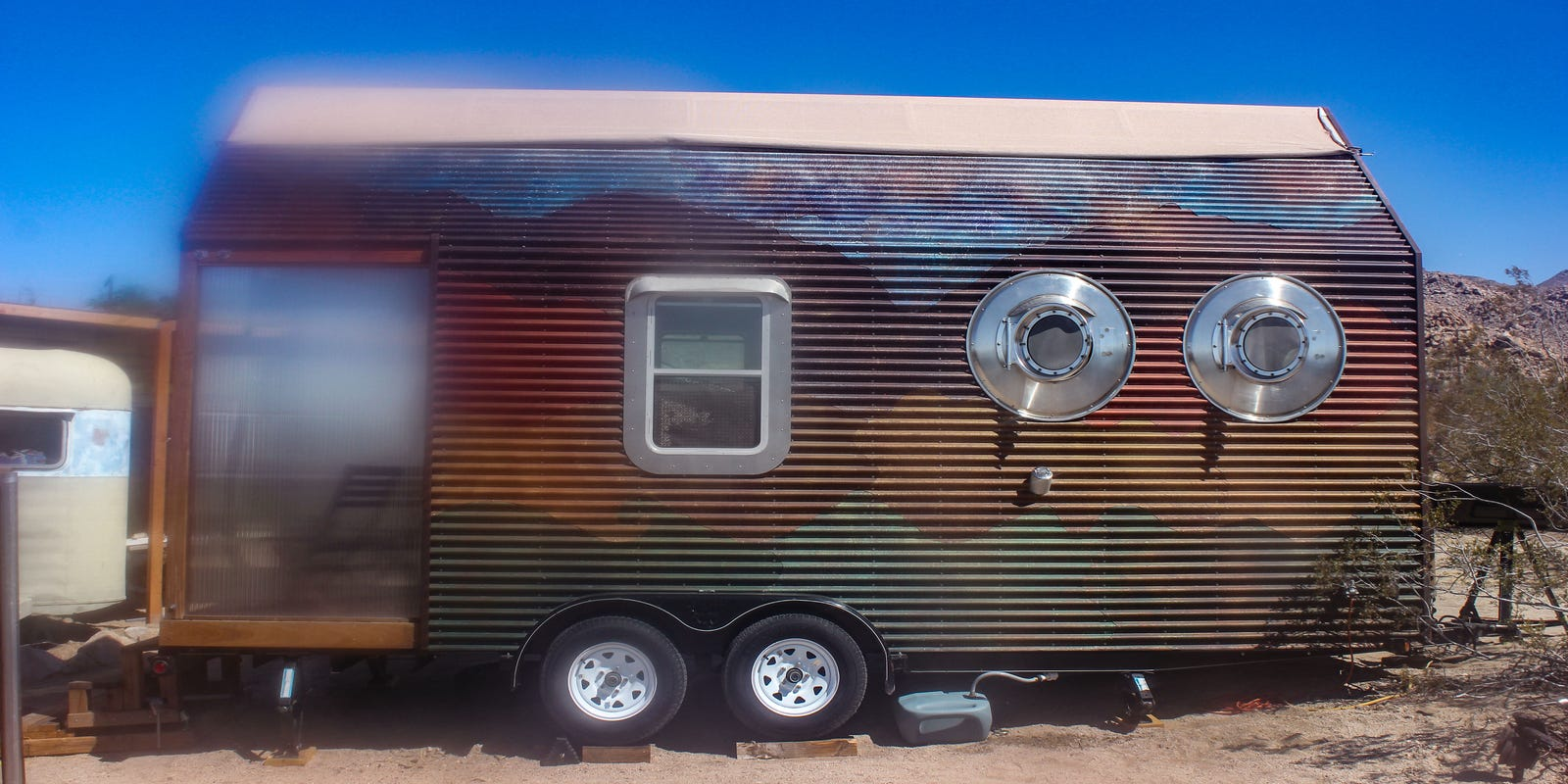 See inside a tiny home on wheels that's also an art installation
