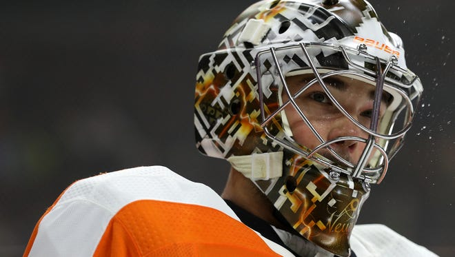 Michal Neuvirth has a 1-2 record this season despite stellar personal statistics. In both losses, the Flyers were unable to score.