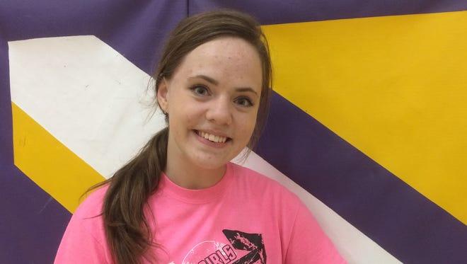 Senior Ellie Olsen is a three-year starter at libero for the Kewaunee volleyball team.