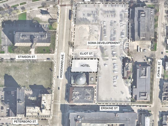Location for the future Detroit West Elm Hotel.