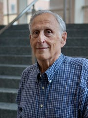"""Mel Weinswig, professor emeritus and former dean of University of Wisconsin-Madison School of Pharmacy, says, """"You have drugs that used to be pennies that are now selling for a dollar a capsule."""" He was photographed at the pharmacy school on Sept. 21, 2016."""
