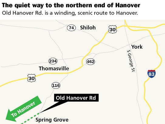 The quiet way to the northern end of Hanover