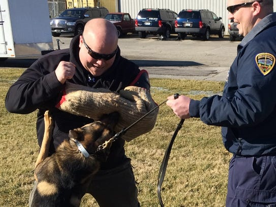 Richmond Police Department K-9 Leo trains with handler