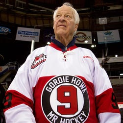 Gordie Howe had a rough summer with pain, but he's walking again and his sense of humor is back.