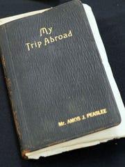 U.S. Army Maj. Amos Peaslee's personal travel diary.