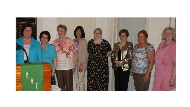 The Millville Woman's Club recently celebrated the installation of officers for the 2016-2017 year. (From left) Mary Wolfe from the Woman's Club of Vineland, acting as a representative of the New Jersey Federation of Women's Clubs, installed the officers: Pam McNamee, president; Kathy Bennett, second vice president; Claudia Romper, corresponding secretary; Jane Christy, financial secretary; Louise Jones, nominations chair; and trustee Andrea Bullock. Not pictured are: Babs Bennett, trustee, and Barbara Westog, recording secretary.