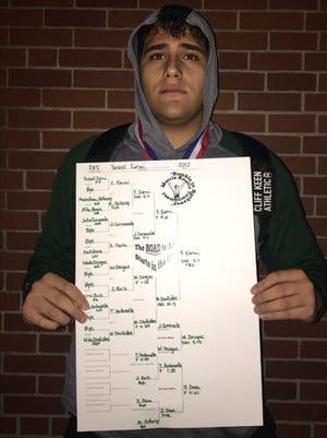 Senior captain Yousef Karmi won a title at the Morris Knolls Tournament for Passaic Valley.