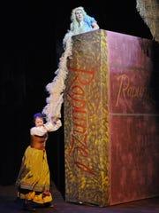 Rapunzel, played by Eden Garman, has her hair stolen