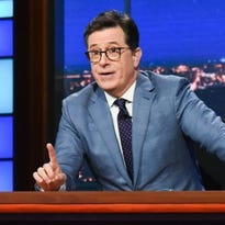 Stephen Colbert says he was tailed in Russia, offers Trump an 'apology'