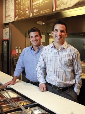 Friday, May 20, 2011: Currito: Joe and John Lanni pose in their Currito restaurant on Calhoun Street. Currito chain, the Òburrito without borders,Ó is expanding in the Cincinnati area. The Enquirer/ Meg Vogel