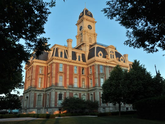 The Hamilton County Courthouse in Noblesville.