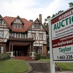The Knoll mansion in Meridian, Miss., and its contents, will be sold in an Internet real estate auction with bids to be accepted through Sept. 10. Contents to be sold include a piano and harp, as well as other items from the owner's antique store.