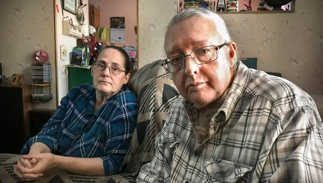 Patricia (left) and David Salisbury in their Alexandria, Minnesota, home in January 2018.