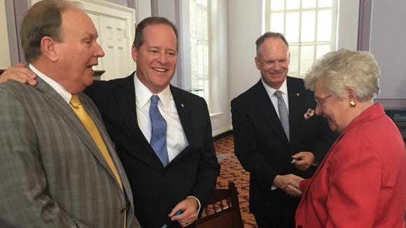 From left to right: Rep. Jim Patterson, R-Meridianville;