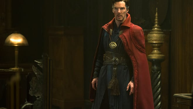 "This image released by Disney shows Benedict Cumberbatch in a scene from Marvel's ""Doctor Strange."""