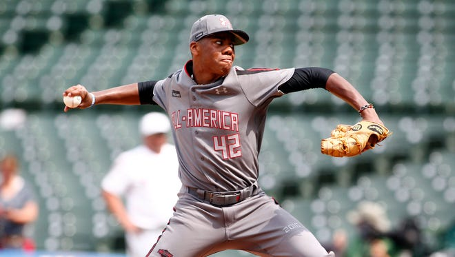 Hunter Greene's fastball tops out at 98 mph.